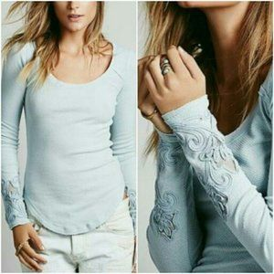 Free People Light Blue XS Masquerade Thermal